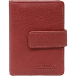 Vault Ladies' PU RFID Blocking Tabbed Credit Card Holder Red W1015