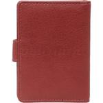 Vault Ladies' PU RFID Blocking Tabbed Credit Card Holder Red W1015 - 1