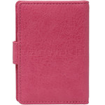 Vault Ladies' PU RFID Blocking Tabbed Credit Card Holder Pink W1015 - 1