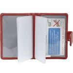 Vault Ladies' PU RFID Blocking Tabbed Credit Card Holder Red W1015 - 2