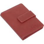 Vault Ladies' PU RFID Blocking Tabbed Credit Card Holder Red W1015 - 3