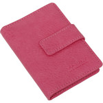 Vault Ladies' PU RFID Blocking Tabbed Credit Card Holder Pink W1015 - 3