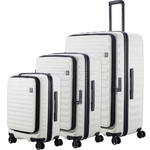 Lojel Cubo Hardside Suitcase Set of 3 White JCU55, JCU65, JCU78 with FREE Lojel Luggage Scale OCS27