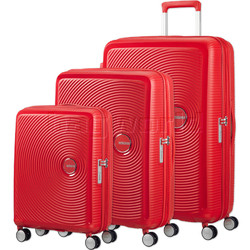 American Tourister Curio Hardside Suitcase Set of 3 Magma Red 87999, 86229, 86230 with FREE Samsonite Luggage Scale 34042