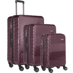 Antler Viva Hardside Suitcase Set of 3 Aubergine 45015, 45016, 45019 with FREE GO Travel Luggage Scale G2006