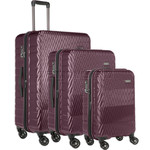 Antler Viva Hardside Suitcase Set of 3 Aubergine 45015, 45016, 45019 with FREE GO Travel Luggage Scale G2006