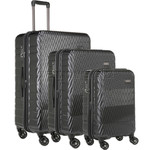 Antler Viva Hardside Suitcase Set of 3 Charcoal 45015, 45016, 45019 with FREE GO Travel Luggage Scale G2006