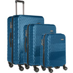 Antler Viva Hardside Suitcase Set of 3 Teal 45015, 45016, 45019 with FREE GO Travel Luggage Scale G2006