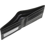 Vault Men's Metal Tab RFID Blocking Slimline Leather Wallet Black M2002 - 3