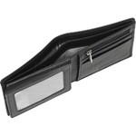 Vault Men's Metal Tab RFID Blocking Top Flap Leather Wallet Black M2003 - 4