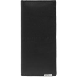 Vault Men's Metal Tab RFID Blocking Breast Leather Wallet Black M2008