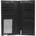 Vault Men's Metal Tab RFID Blocking Breast Leather Wallet Black M2008 - 2
