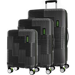 American Tourister Velton Hardside Suitcase Set of 3 Black 24732, 24731, 24734 with FREE Samsonite Luggage Scale 34042