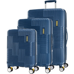 American Tourister Velton Hardside Suitcase Set of 3 Navy 24732, 24731, 24734 with FREE Samsonite Luggage Scale 34042