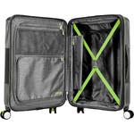 American Tourister Velton Hardside Suitcase Set of 3 Black 24732, 24731, 24734 with FREE Samsonite Luggage Scale 34042 - 3