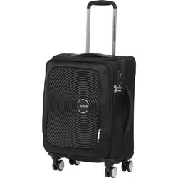 """American Tourister Curio SS Small/Cabin 15.6"""" Laptop 55cm Softside Suitcase Black 22700"""