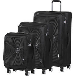 American Tourister Curio SS Softside Suitcase Set of 3 Black 22702, 22701, 22700 with FREE Samsonite Luggage Scale 34042