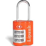 Lipault Travel Accessories TSA Combination Lock Bright Orange 64793