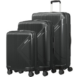 American Tourister Modern Dream Hardside Suitcase Set of 3 Black 10082, 10081, 22087 with FREE Samsonite Luggage Scale 34042