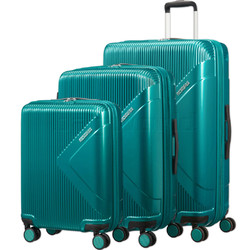 American Tourister Modern Dream Hardside Suitcase Set of 3 Emerald Green 10082, 10081, 22087 with FREE Samsonite Luggage Scale 34042