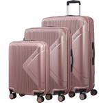 American Tourister Modern Dream Hardside Suitcase Set of 3 Rose Gold 10082, 10081, 22087 with FREE Samsonite Luggage Scale 34042