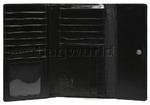 Cellini Ladies' Atlanta Foldover Leather Wallet Black T1027 - 2