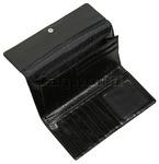 Cellini Ladies' Atlanta Foldover Leather Wallet Black T1027 - 3