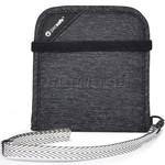Pacsafe RFIDsafe V100 RFID Blocking Bi-Fold Wallet Granite Melange 10556