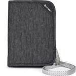 Pacsafe RFIDsafe V150 RFID Blocking Compact Organiser Granite Melange 10561