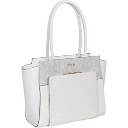 "FYB London Smart City RFID Blocking 12.5"" Laptop Handbag White FY100"