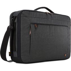 """Case Logic Era 15.6"""" Laptop & Tablet Hybrid Briefcase/Backpack Obsidian CV116"""