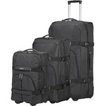 Samsonite Rewind Wheel Duffle Set of 3 Black 23266, 75257, 75258 with FREE Samsonite Luggage Scale 34042