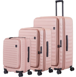 Lojel Cubo Hardside Suitcase Set of 3 Rose JCU55, JCU65, JCU78 with FREE Lojel Luggage Scale OCS27