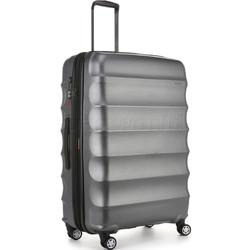Antler Juno Metallic DLX Large 79cm Hardside Suitcase Charcoal 71015