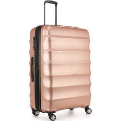 Antler Juno Metallic DLX Large 79cm Hardside Suitcase Rose Gold 71015