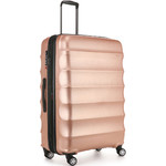 Antler Juno Metallic DLX Large 79cm Hardside Suitcase Rose Gold 71015