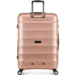 Antler Juno Metallic DLX Large 79cm Hardside Suitcase Rose Gold 71015 - 1