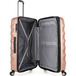 Antler Juno Metallic DLX Large 79cm Hardside Suitcase Rose Gold 71015 - 3