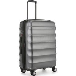 Antler Juno Metallic DLX Medium 68cm Hardside Suitcase Charcoal 71016