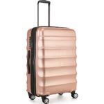 Antler Juno Metallic DLX Medium 68cm Hardside Suitcase Rose Gold 71016