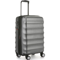 Antler Juno Metallic DLX Small/Cabin 56cm Hardside Suitcase Charcoal 71258