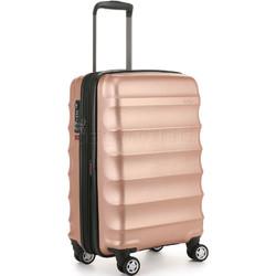 Antler Juno Metallic DLX Small/Cabin 56cm Hardside Suitcase Rose Gold 71258