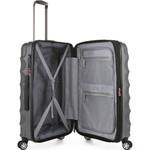 Antler Juno Metallic DLX Medium 68cm Hardside Suitcase Charcoal 71016 - 3