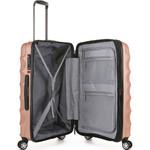 Antler Juno Metallic DLX Medium 68cm Hardside Suitcase Rose Gold 71016 - 3