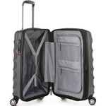 Antler Juno Metallic DLX Small/Cabin 56cm Hardside Suitcase Charcoal 71258 - 3