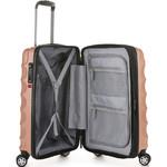 Antler Juno Metallic DLX Small/Cabin 56cm Hardside Suitcase Rose Gold 71258 - 3