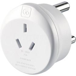 GO Travel Adaptor Plug Australia to South Africa White GO563
