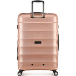 Antler Juno Metallic DLX Hardside Suitcase Set of 3 Rose Gold 71015, 71016, 71258 with FREE GO Travel Luggage Scale G2006 - 1