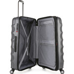 Antler Juno Metallic DLX Hardside Suitcase Set of 3 Charcoal 71015, 71016, 71258 with FREE GO Travel Luggage Scale G2006 - 3
