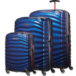 Samsonite Lite-Shock Sport Hardside Suitcase Set of 3 Nautical Blue 05262, 05267, 05269 with FREE Samsonite Luggage Scale 34042